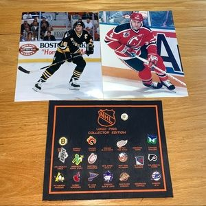 NHL Hockey Pins and two posters